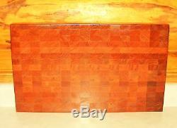 1 Reversible End Grain Wood Cutting Board 2 Thick Hard Cherry Butcher Block