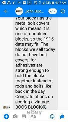 1915 Vintage John Boos Butcher Block