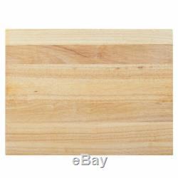 20 x 15 x 1 3/4 Wood Commercial Restaurant Solid Cutting Board Butcher Block