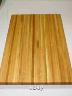24 Solid Oak Edge Grain BUTCHER BLOCK counter top table top 18x24x1.25