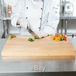 24 x 18 x 1 3/4 Wood Commercial Restaurant Solid Cutting Board Butcher Block
