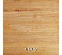 24 x 24 x 1 3/4 Wood Commercial Restaurant Solid Cutting Board Butcher Block