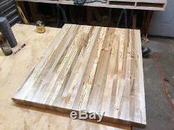 25 5 /8 x 18 x 1 1/2 ambrosia Maple Wood Butcher Block Counter top cutting board