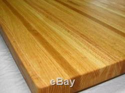 26 DEEP Solid Oak Edge Grain BUTCHER BLOCK, counter top, table top 26x38x1.5