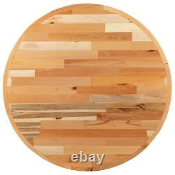 30'' Round Butcher Block style Restaurant Table Top in Solid Wood Natural Finish