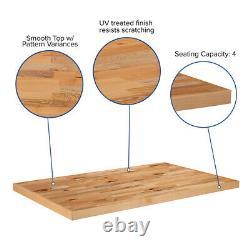 30'' x 48 Rectangular Butcher Block Style Restaurant Table Top in Solid Wood