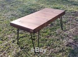 31+ x 14+ x 2+ Wood Antique Restaurant Counter Top Butcher Block Coffee Table