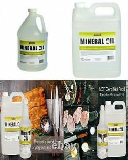 5 pack of 1 Gallon 100% Pure Food Grade Mineral Oil USP Safe Butcher 5 gal total