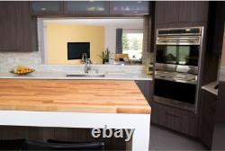 50 in Wood Wooden Kitchen Island Table Top Butcher Countertop Unfinished Birch