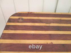 58570 Rustic Primitve Log Twig Butcher Block Kitchen Table Garden Stand