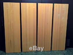 60 X 18 X 1.75 In. Wood Butcher Block Counter-Top Maple Reclaimed circa 1997