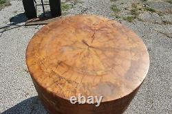 Antique 1800's Wood Butcher Block Chopping Table 1 Piece Solid Cherry Top NICE
