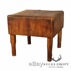 Antique American Butcher Block Table