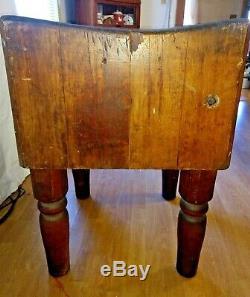 Antique BALLY Wood Butcher Block