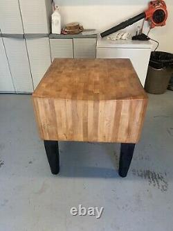 Antique Bally Butcher Block Co. Table
