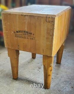 Antique Birkenwald Maple Butcher Block