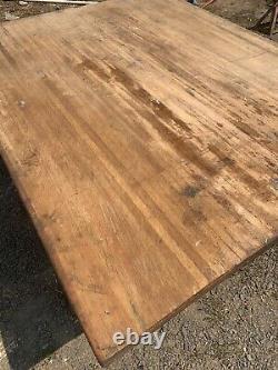 Antique Butcher Block Counter Top / Wood Slab 47.5 X 60 X 1.75