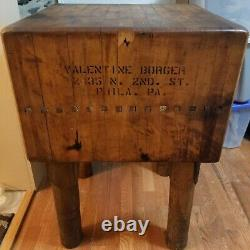 Antique Butcher Block from Philadelphia Shop Over 100 Years Old
