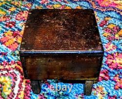 Antique Early 1900s Butcher Block Wood Table Apprentice Piece/Salesman Sample