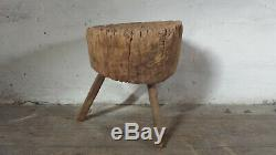 Antique French Butcher Block Table French Cutting Board Cutting Block Tree Stump
