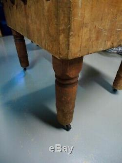 Antique Maple Butcher Block by Wood Welded Petoskey Block and Manufacturing Co