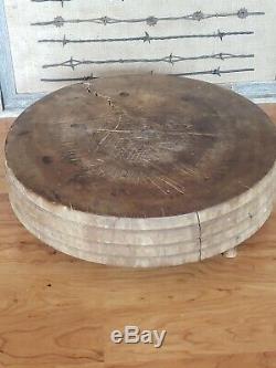 Antique Primitive Tuk-Away Size 4 Bread Cutting Board Butcher Block Brenham TX