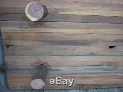 Antique Primitive Wood Bread Board Butcher Block Riser LARGE 36 x 18 x 6h