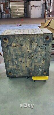 Antique Vintage Butcher Block Hardwood No legs Maple wood 30 x 16