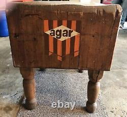 Antique/Vintage Butcher Block Table, Originally Out Of A Yellow Front Store