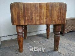Antique / Vintage Master Built Weld Wood Commercial Butcher Block