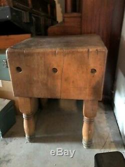 Antique Wood Butcher Block, Unique, Used MUST SEE! $400 OBO