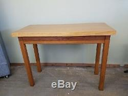 BOWLING ALLEY Industrial Butcher Block Kitchen Island Pub Table