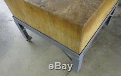 BUTCHER BLOCK WORK TABLE 3' x 3' x 33, USED in Machine Shop LOCAL PICKUP ONLY