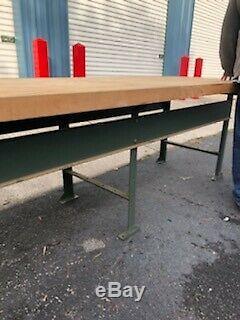 Beautiful Huge Industrial Butcher Block Top Work Bench Table Kitchen Island
