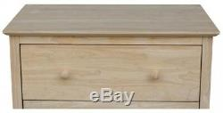 Bedroom 3-Drawer Classic Dresser Unfinished Solid Wood Chest Butcher Block Top