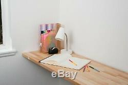 Birch Butcher Block Fold-Away Desk and Workbench with UV Finish