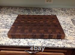 Black Walnut Butcher Block Cutting Board NEW End Grain 16 X 20With Sap Pattern