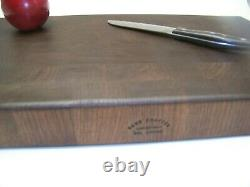Black Walnut butcher block cutting board. End grain. Great Gift USA
