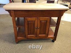 Bob Timberlake Lexington Furniture Butcher Block Kitchen Island Cherry
