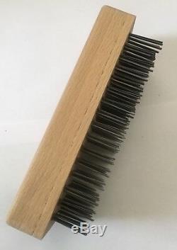 Butcher Block Brush Scraper Wooden Brush With Metal Bristles Good Quality Item