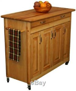 Butcher Block Cart with Drawer ID 1614888