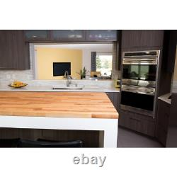 Butcher Block Countertop 10 ft L x 25 in. D x 1.5 in. T Antimicrobial Eased Edge