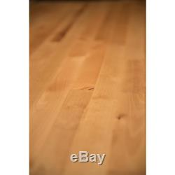 Butcher Block Countertop 3 ft. L x 3 ft. D x 1.5 in T Unfinished Birch Personal