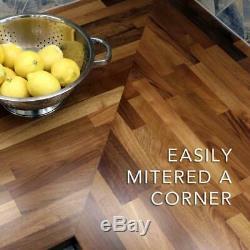 Butcher Block Countertop 4 ft. 2 in. L x 2 ft. 1 in. D x 1.5 in. European Walnut