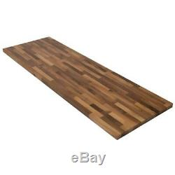 Butcher Block Countertop 4 ft. 2 in. L x 2 ft. 1 in. D x 1.5 in. T Walnut
