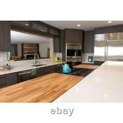 Butcher Block Countertop 4 ft. L x 25 in. D x 1.5 in. T Antimicrobial In-Stock