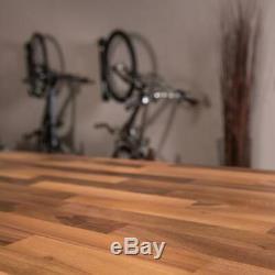 Butcher Block Countertop 4 ft Unfinished European Walnut Durable Modern Rustic
