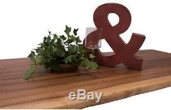 Butcher Block Countertop 4Ft x 2Ft Oiled Acacia Solid Wood Unique Live Edge