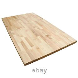 Butcher Block Countertop 6.17 ft. L x 25 in. D x 1.5 in. T Antimicrobial Wood