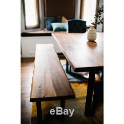 Butcher Block Countertop 6 L x 32 D x 1.5 Thick Oiled Acacia with Live Edge